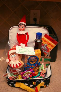 Carson packed Mason's lunch for School. Elf on the Shelf