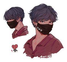 BTS FanArt shared by heymochi on We Heart It Kpop Drawings, Cute Drawings, Drawing Sketches, Cute Boy Drawing, Fan Drawing, Fan Art, Vhope Fanart, Taehyung Fanart, Cute Art Styles