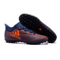 2017 Adidas X 17.3 TF Botas De Futbol Negro Naranja 873e7979409ed