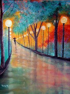 Rainy Day Dream Painting by: Tracy Jo