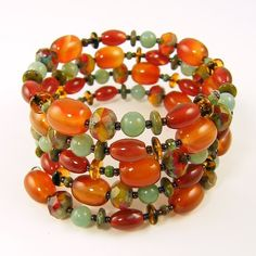 I love the Fall colors in this wrap bracelet!!