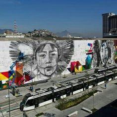 Todos Somos um mural in progress Rio De Janeiro  by Eduardo Kobra @kobrastreetart
