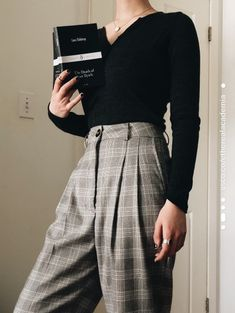Retro Outfits, Mode Outfits, Cute Casual Outfits, Fall Outfits, Vintage Outfits, Fashion Outfits, Fashion Pants, Workwear Fashion, Layering Outfits