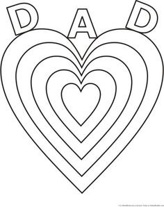 Fathers Day heart belongs to Daddy coloring page poster or
