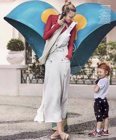 Model Caroline Trentini is lensed by Mario Testino with her two children Bento Jacob and Benoah in 'Home Chic Home'. Tonne Goodman styled the Brazilian-born Caroline for Vogue US March Hair by Max Weber; Vogue Home, Vogue Us, Mario Testino, Sam Edelman Espadrilles, Valery Kaufman, Caroline Trentini, Brazilian Models, Tonne, Matching Family Outfits