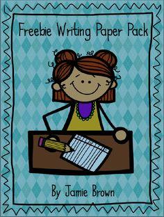"FREE LESSON - ""FREEBIE Writing Paper Pack"" - Go to The Best of Teacher Entrepreneurs for this and hundreds of free lessons.  #FreeLesson   #TeachersPayTeachers   #TPT  http://www.thebestofteacherentrepreneurs.net/2014/02/free-misc-lesson-freebie-writing-paper.html"