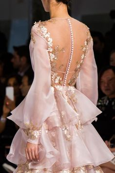 Details from Ralph & Russo Haute Couture Spring 2016.Paris Fashion Week.