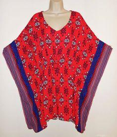 Boho Batwing Festival Gypsy Top M Medium NEW Blouse Navy Red Blue NWT Shirt #BeBop #Blouse