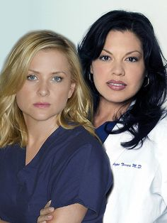 Calzona <3 i just LOVE that they are like physical polar opposites...