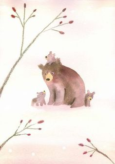 Leading Illustration & Publishing Agency based in London, New York & Marbella. Bear Illustration, Cute Paintings, Bear Art, Woodland Animals, Christmas Art, Most Beautiful Animals, Pet Birds, Cute Art, Cute Pictures