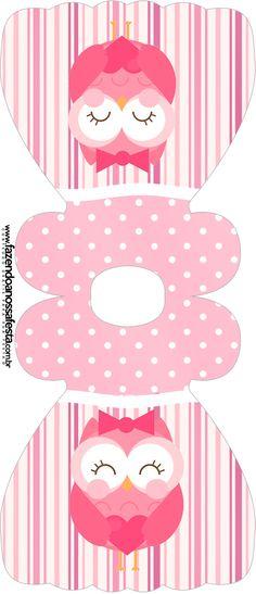 convite vestido dia dos professores corujinha rosa