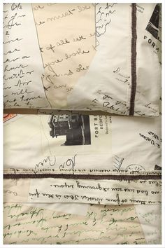 Although I don't have $230 to spend on new sheets... wouldn't this be cool? haha Love letter sheets from Anthropology.