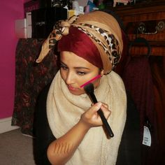 Turban hijab style fashion