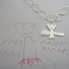 If It's Hip, It's Here: Mia Van Beek Turns Your Kid's Art Into Actual Jewelry, Keychains & Bookmarks.