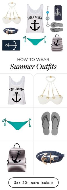 """Untitled #25"" by lyricisme on Polyvore featuring Agent Provocateur, River Island, Bling Jewelry, Dasein, Humble Chic, Casetify, Navy, Havaianas, women's clothing and women's fashion"
