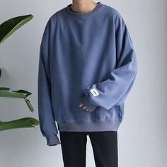 Korean Fashion Men, Mens Fashion, Streetwear, Stylish Mens Outfits, Boyfriend Style, Casual Sweaters, Aesthetic Clothes, Men Sweater, Oversized Sweater Outfit