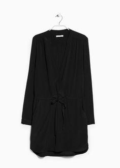 ✓ €29,99 - Vestido decote em V - Mango