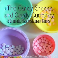 The Candy Shoppe and Candy Currency Color Sorting Dramatic Play Restaurant Games