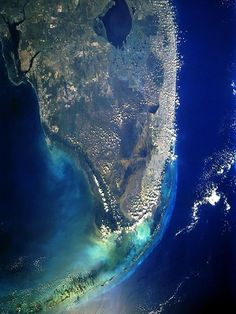 Florida Everglades from the space.
