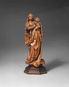 Attributed to Niclaus Gerhaert von Leyden (North Netherlandish, active Strasbourg, ca. 1462–died 1473 Vienna). Standing Virgin and Child, ca. 1470. Austrian. Made in probably Vienna, Austria. The Metropolitan Museum of Art, New York. Purchase, The Cloisters Collection and Lila Acheson Wallace Gift, 1996 (1996.14) #Cloisters