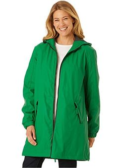 Women's Plus Size Raincoat Slicker Re…