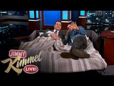 Joaquin Phoenix Gets Into Bed with Jimmy Kimmel