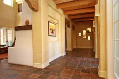 Foyer has Versailles pattern Indian slate tile floors and access to ...