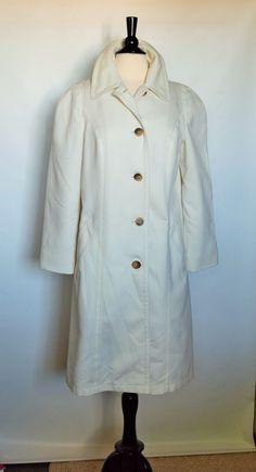 New London Fog Maincoats White Womens Raincoat Slicker Coat Size 14 #LondonFogMaincoats #Raincoat