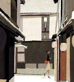 Japanese Illustration: Ura-dori. Tadahiro Uesugi. 2007
