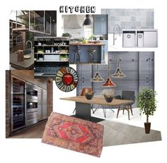 kitchen_N&A by veryvlada on Polyvore featuring interior, interiors, interior design, дом, home decor, interior decorating, Currey & Company, Nearly Natural and kitchen