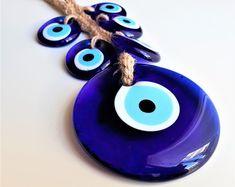 Greek Evil eye, bracelet, home decor, charms, beads. by GreekEvilEyes Couple Bracelets, Love Bracelets, Modern Jewelry, Unique Jewelry, Greek Evil Eye, Evil Eye Bracelet, Blue Beads, Sell On Etsy, Couple Gifts