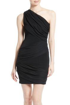 alice   olivia Cici One-Shoulder Goddess Dress