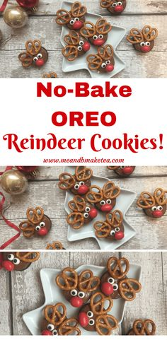 These cute Reindeer Oreo Cookies are easy to make, and are no-bake. Perfect for kids.
