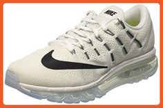 on sale f9d7b 5aa71 Nike Women s Air Max 2016 Summit White White Black Mesh Running Shoes 9 M
