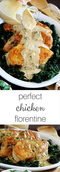 Perfect & Easy Chicken Florentine! ~ I want to pour that sauce over everything. AMAZING