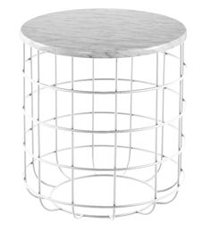 Oliver Matte Marble Wire Side Table by IDC. Get it now or find more Side Tables at Temple & Webster.