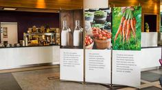 Our easy to assemble display stands are ideal for offices, events or trade shows. Order your pop up banner stands online from Dimensions Displays. Pop Up Banner, Food Banner, Standing Signage, Pop Up Market, Display Banners, Corporate Interiors, Banner Stands, Graphic Design Services