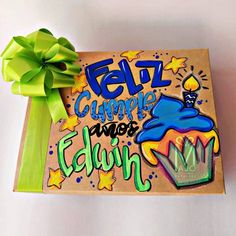 Surprise Box Gift, Disney Drawings, Paper Gifts, Boyfriend Gifts, Diy And Crafts, Gift Wrapping, Crafty, Lettering, Creative