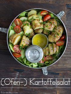 Ofen-Kartoffelsalat... Bento, Bbq, Lunch Box, Food And Drink, Dessert, Vegan, Vegetables, Cooking, Honey