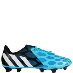 adidas Predito Instinct FG J Solar Blue Core White Black Youth Soccer  Cleats - 2d8a9b093270e