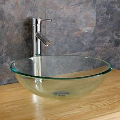 Surface Mounted Monza 31cm Round Clear Glass Basin