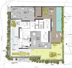 wild bär heule architekten ag Villa Plan, Cottage Plan, Courtyard House, Room Planning, House Floor Plans, Interior Design Living Room, Home Projects, Townhouse, Architecture Design