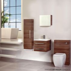 Walnut Is Bang On Trend For Bathrooms Which Why We Are So Excited To Present You The Frontline Aquatrend Bathroom Furniture Range