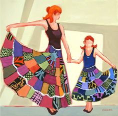 """Dance Recital"" painting by Carolee Clark"