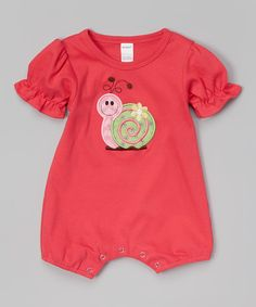 Fuchsia Snail Romper - Infant