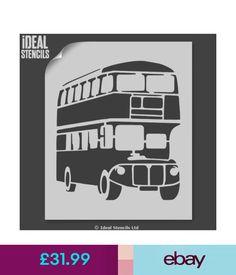 Stencils & Templates London Red Bus Stencil Nursery Home Decor Art Craft Painting Ideal Stencils Ltd #ebay #Home & Garden