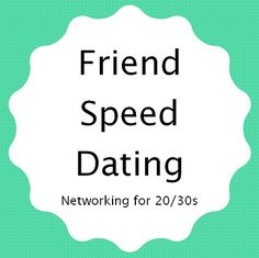 How to hold a Friend Speed Dating program for 20/30s at the library to help young adults make friends in the community.