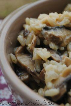 Risotto aux champignons en cocotte minute