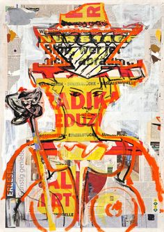 "Borai & Kahne Ateliers; Paint, 2012, Mixed Media ""Queen"""