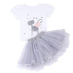 ChicNChic Baby Girl Short Sleeve Shirt and Tutu Skirt Outfits Birthday Princess Dress Sets Baby Girl Birthday, Princess Birthday, Baby Olivia, Kids Gown, Baby Cats, Hana, Skirt Outfits, Kids Wear, 18 Months
